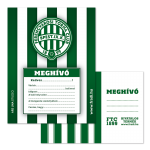 Ferencváros partimeghívó borítékkal
