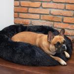 Nyugtató kutyaágy , macskaágy   fekete 40 cm