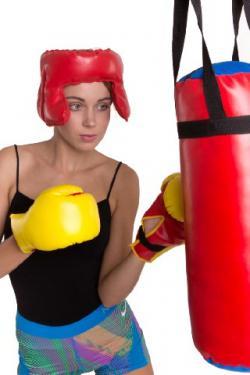 Gyerek bokszkészlet fejvédővel