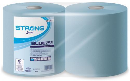 Ipari papírtörlő Lucart Strong Blue kék 852322