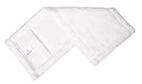 Mikromop, zsebes, fehér, 40 cm