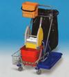TEMI 022 Kétvödrös takarítókocsi moptartóval és zsáktartóval