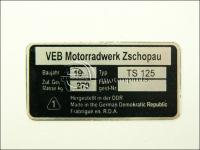MZ/TS 125 TÍPUSTÁBLA /TS125/ 840115 -HUN