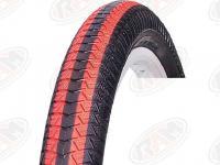 Vee Rubber BMX-Freestyle 20-2,25 VRB186 fekete/piros csík Vee Rubber köpeny 521900 -THA