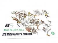 MZ ES TROPHY-250/2 SZERELÉSI ÁBRA ES175/2 250/2 11747 Gyári minőség