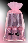 Head Jog Pink / Rózsaszín Körkefe Szett
