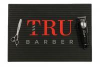 Barber asztali csúszásgátló lap (USA True Barber Mat) Fekete/piros