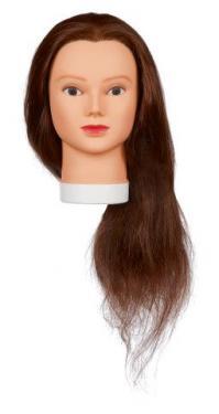 Hosszú hajú 100% humán hajú babafej (Lady 60)