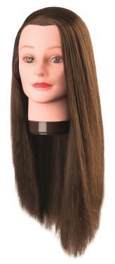 Hosszú hajú 60cm-es gyakorló babafej, színtetikus hajból