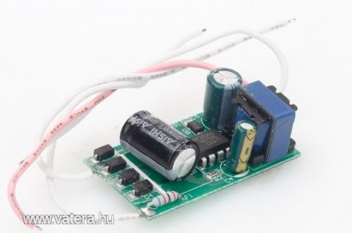 LED áramgenerátor - be: 230V ki: 60 - 120V 300mA