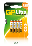 1,5V  AAA mikro ultra alkáli GP elem 4db-os csomagban