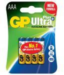 1,5V AAA mikro Ultra Plus alkáli GP elem 4db-os csomagban