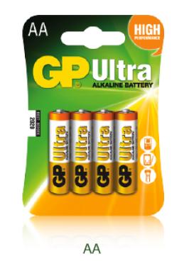 1,5V AA ceruza ultra alkáli GP elem 4db-os csomagban