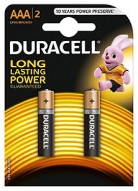 1,5V  AAA mikro ultra alkáli Duracell elem 2db-os csomagban
