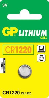 CR 1220 3V Lithium elem