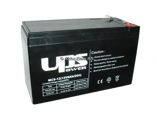 UPS Power 12V 9Ah ólom-zselés akku