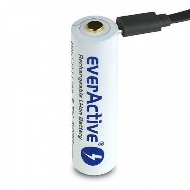 EverActive 18650 3200mAh 3,6V Li-Ion akku beépített USB-s töltővel