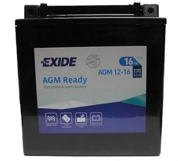 Exide 12V 16Ah 170A AGM12-16 motorakku