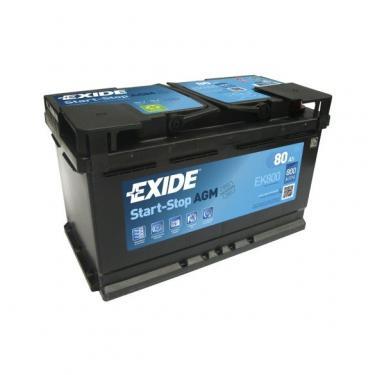 Exide Start-Stop AGM EK800 80Ah 800A autó akkumulátor