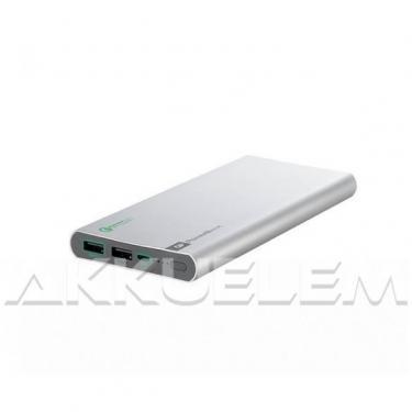 GP FP10MB 10000mAh Quick Charge 2.0 külső akkumulátor ezüst