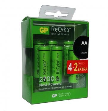 GP 2700mAh AA ReCyko+ akku 6db-os csomagban
