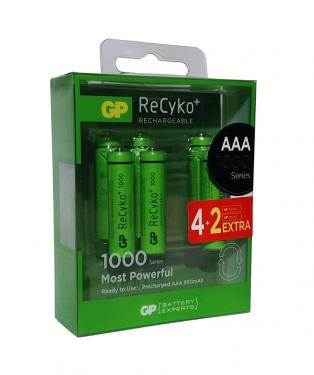 GP ReCyko+ AAA 1000mAh akku 6db-os csomagban