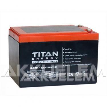 Titan Energy 12V 14Ah 6-DZM-14 ciklikus ólom-zselés akku tőcsavaros