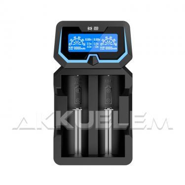 Xtar X2 Li-Ion/Ni-MH akkumulátor töltő akkubank funkcióval