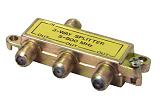 F elosztó  1x bemenet - 3x kimenet 5-900 MHz