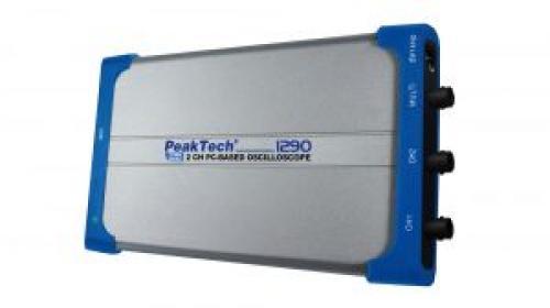 PC oszcilloszkóp 25 MHz, 100 MSa/s, 2 CH