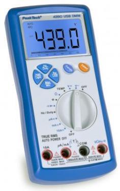 Multiméter Digitális 3 5/6 digit 21mm LCD,USB,True RMS P 4390