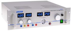 AC/DC Tápegység 0-250VAC, 0-30VDC, 0-5A, 5V/3A fix. P 2235