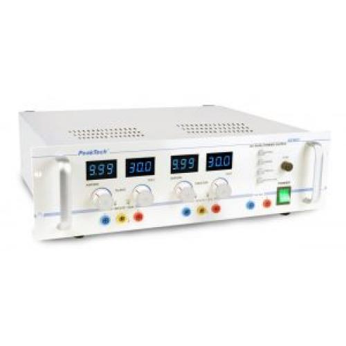 Labortápegység 2x 0-30 V, 2x 0-10 A  P 6060