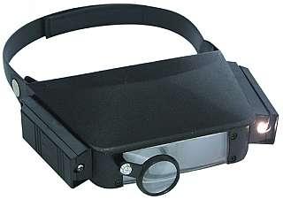 Optikai Fejlámpa 2 különböző lencsével+lámpa :1,8x,2,3x,4,8