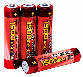 Mikroceruza akkumulátor AAA 1,2 V, 1500 mAh  4 db 1000 x tölthető