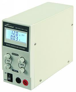 Labortápegység  0-30 V 0-3 A 2 db LCD-es kijelző  LBN 303, 800002