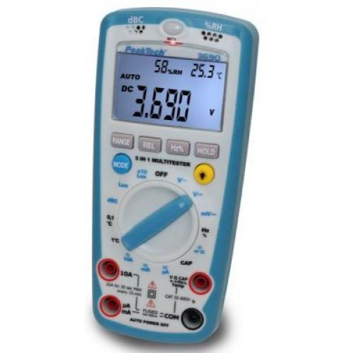 Multiméter + Lux,dB,Hz,Cap, C°,%RH, P 3690
