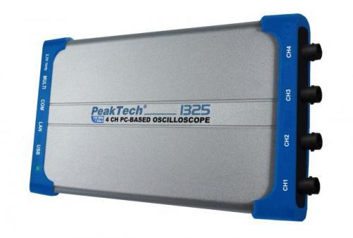 PC oszcilloszkóp 60 MHz, 500 MSa/s, 4 CH