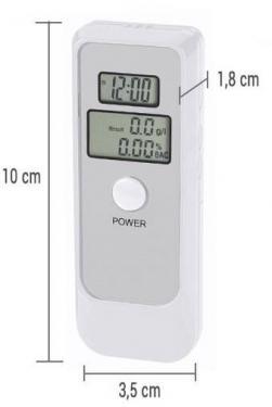 Alkoholszonda digitális 0 - 1.9 ‰ Végkiárusítás, gyári csomagolás nélküli.