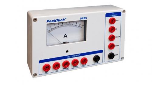 Analóg árammérő - 0 ... 1 / 10 / 100 mA / 1 / 10 A AC/DC