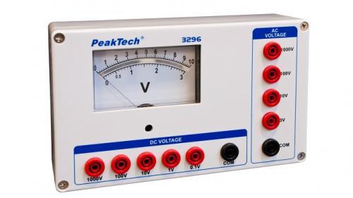 Analóg feszültségmérő - 0 ... 1 / 10 / 100 / 1000 V AC/DC