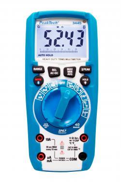 Digitális multiméter 6.000 kijelzéssel ~ 1000V AC/DC TrueRMS méréssel,   Bluetooth funkcióval, IP67
