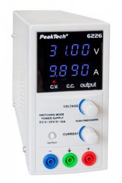 Kapcsolóüzemű labor tápegység DC 1-30V/0-10A