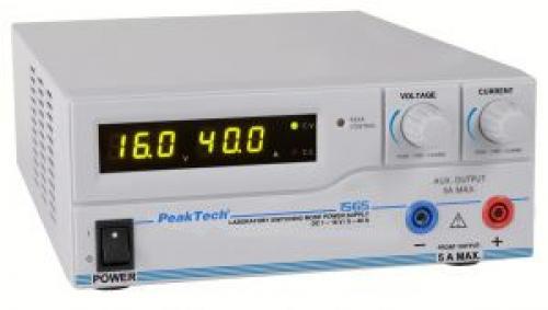Labortápegység 1-16 V, 0-40 A, Peaktech P 1565 USB