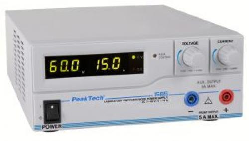 Labortápegység 1-60 V, 0-15 A, Peaktech P 1585 USB