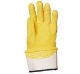 Sárga krepp latex 3801-es kesztyű merev mandzsettás, vágás-, csúszásbi