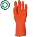 Narancs latex, saválló,  vágásbiztos, csúszásgátló,  erősített, 3817