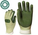 Prodefender 3838-as KESZTYŰ  vulkanizált, szellőző hátú, zöld  latex