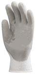 Szürke latex 3874-es kesztyű hideg elleni belső bolyhozással, pamut-ak
