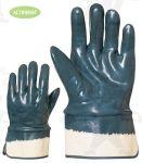 Herkules kétszer, kézháton is mártott kék nitril, merev mandzsetta
